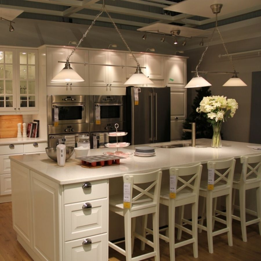 White Stools For Kitchen Island  Home Improvement  Pinterest Gorgeous Kitchen With Islands Designs Inspiration