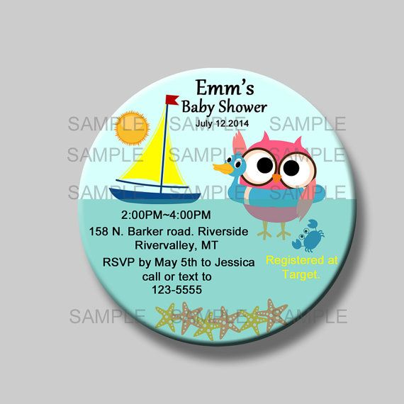 Save The Date Magnet Baby Shower Invitation Owl It S A Boy