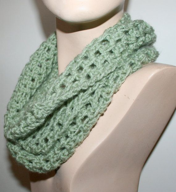 Easy Crochet Scarf Pattern Cowl Infinity Long By Czechbeaderyshop