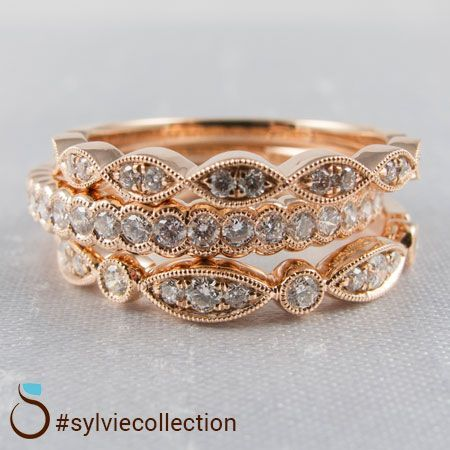 Urbanowicz Jewelers Sylvie Stackable Wedding Bands Bridal Jewelry Fashion Rings