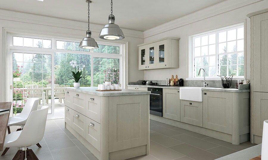 Bella Cambridge Oakgrain Grey Kitchen  Kitchen Ideas  Pinterest Cool Designer Kitchens For Sale Decorating Design