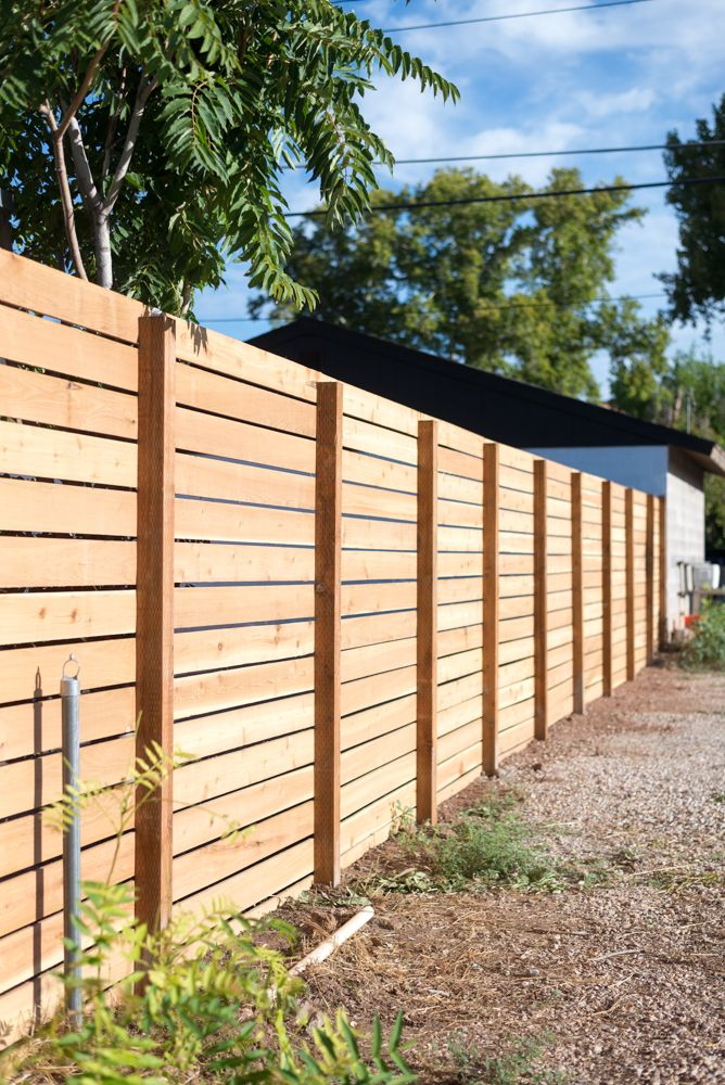 Horizontal Slatted Fence My Favorite Diy App Fence Design Backyard Fences Privacy Fence Designs