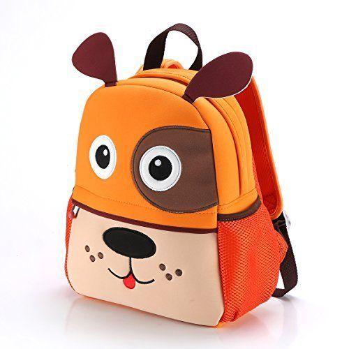 2af4ccf5aa Toddler Bag Kids Cute Dog Backpack Boy Preschool Puppy Animal Cartoon  Travel Zoo  Coolwoo