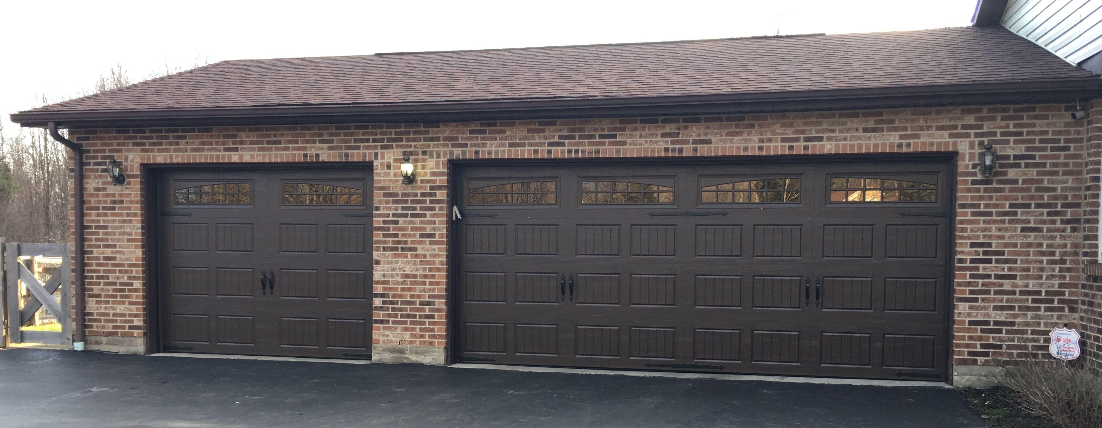 Amarr Garage Doors In Dark Brown House Exterior Garage Doors