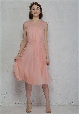 Sunray Chiffon Dress - 1950s Style Prom