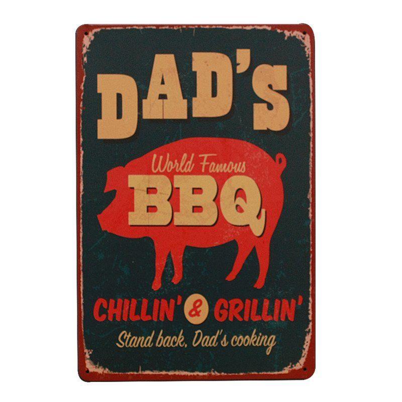 Vintage Bar Metal Tin Signs Animal Retro Plaque Poster Customization Wall Decor