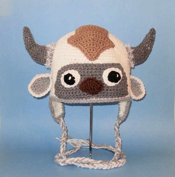 Crochet Pattern PDF Flying Bison Hat. Beanie and Earflap. (All Sizes ...