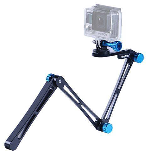 Smatree Smapole X1 Aluminium Foldable Multi Functional Pole Monopod With Tripod Mount Adapter Thumbscrew Wrench For Gopro Hero 4 3 3 2 1 And Cameras