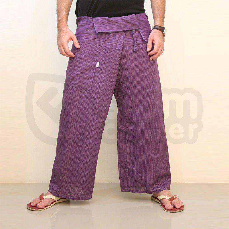 Ciruela Color sólido púrpura 100% algodón pantalones de plástico del