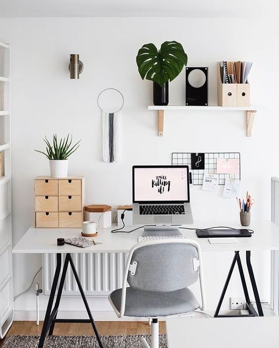 11 Pinterest Offices Spaces That Actually Make Me Want To Work Flat Decor Home Office Decor Interior