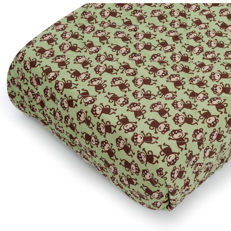 Quilted Play Yard Fitted Sheet - Monkey