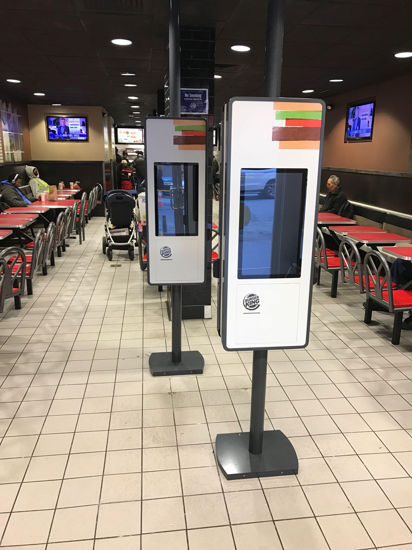 Expo Stands Kioska : Burger king franchise installation of zivelo self order