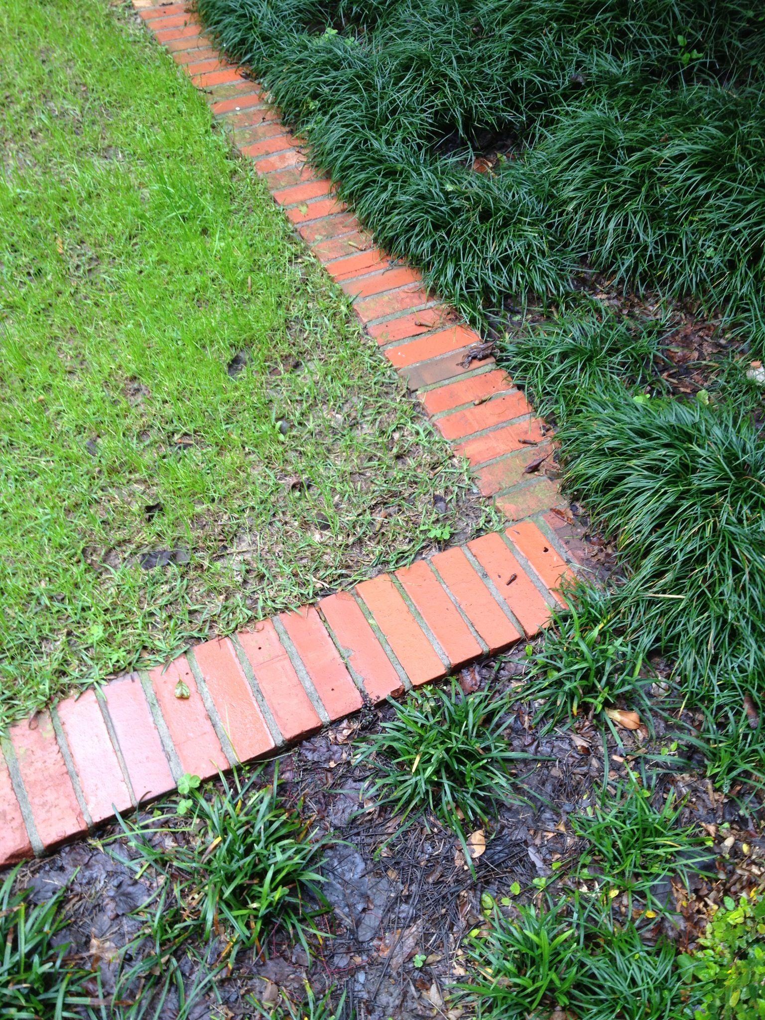 Brick edging Garden edging, Outdoor gardens, Garden projects