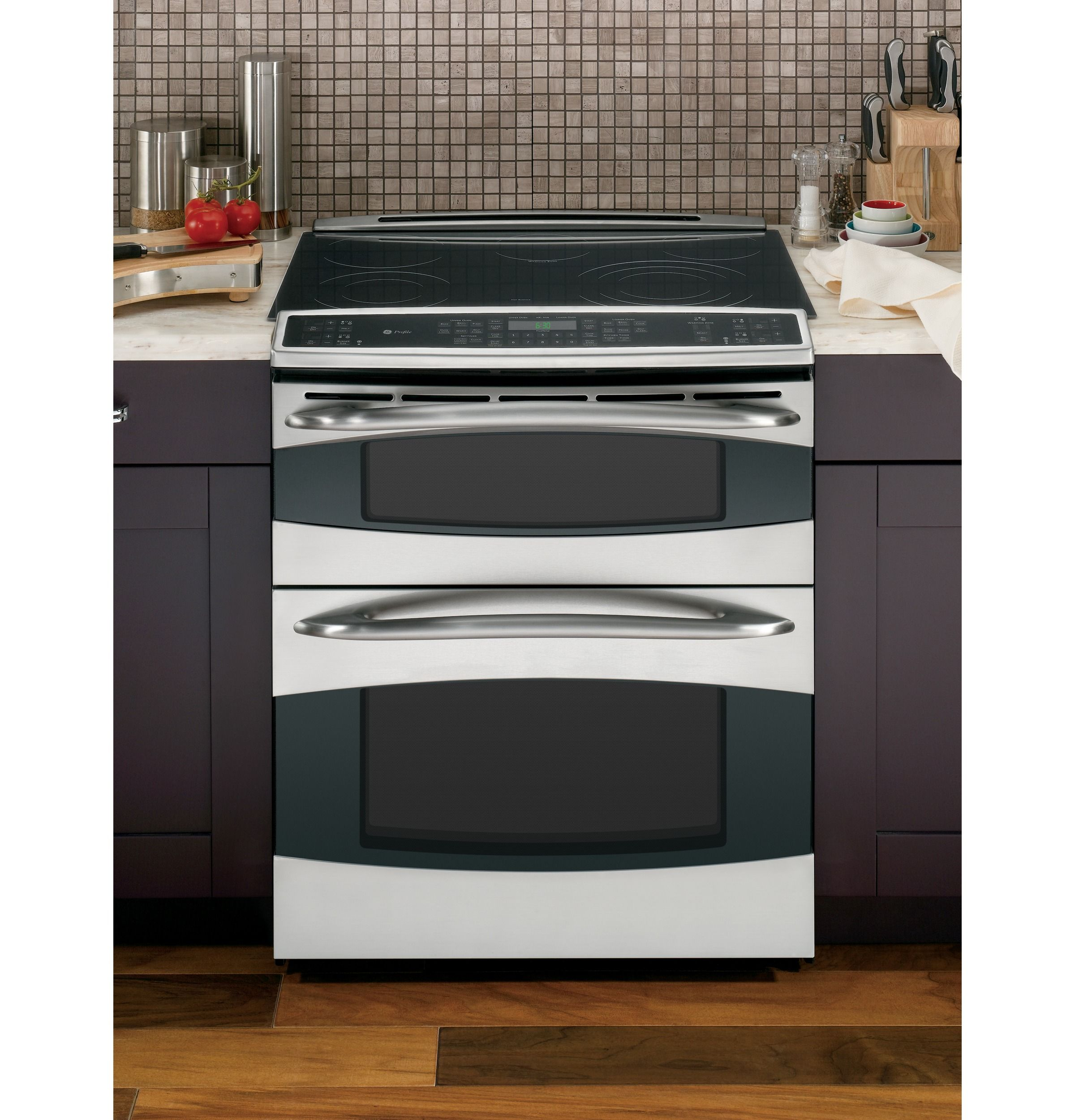 Ps978stss Ge Profile Slide In Double Oven Electric Range Ge