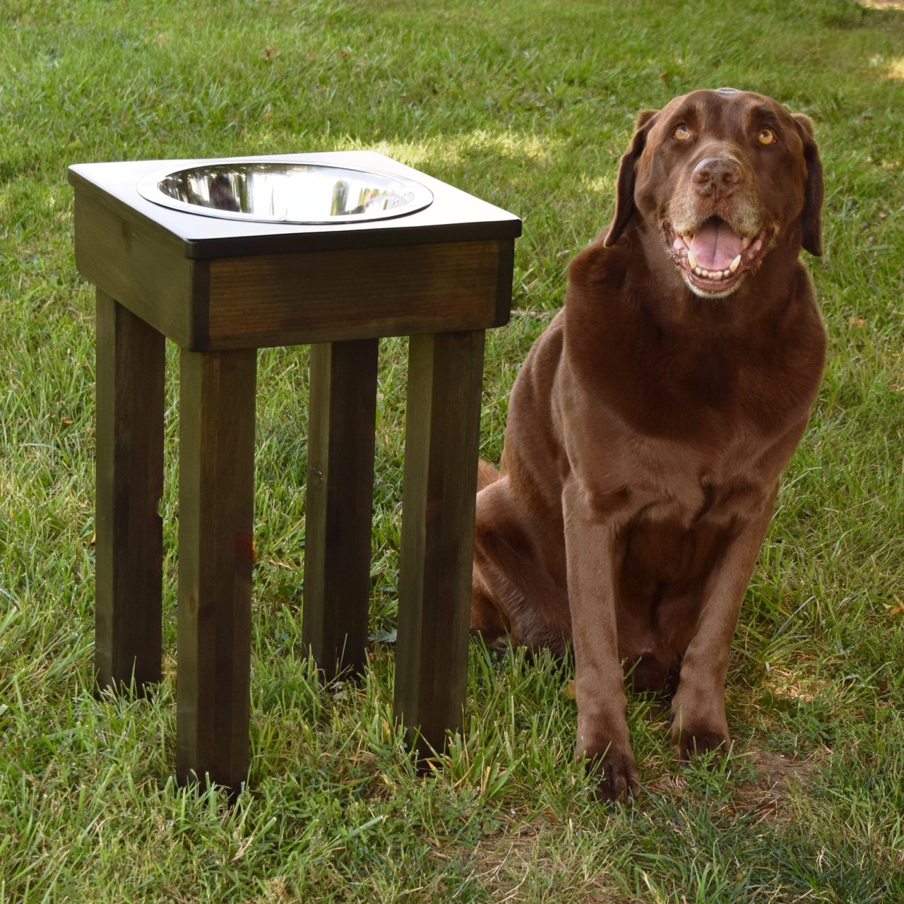 fehr elevated feeder raised jumbo ozarks bowl clipped rev products single dish bowls stand dog pet tall