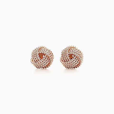 28086a68d Tiffany Twist knot earrings in 18k rose gold. | Budding Fashonista ...