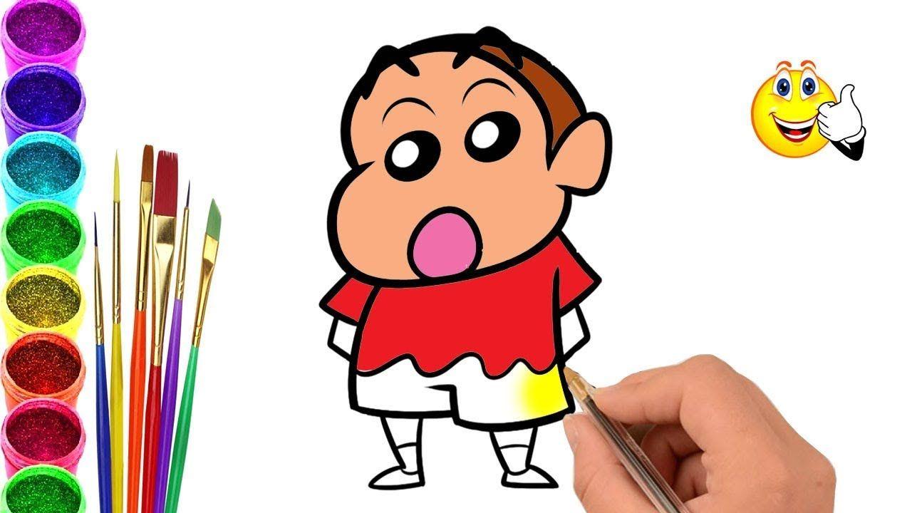 Đồ Chơi Tô Màu Trẻ Em, Tô Màu Shin Cậu Bé Bút Chì, Bé Tập Tô ...