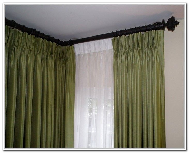 curtains for double windows with related for double curtain rods for corner windows on other