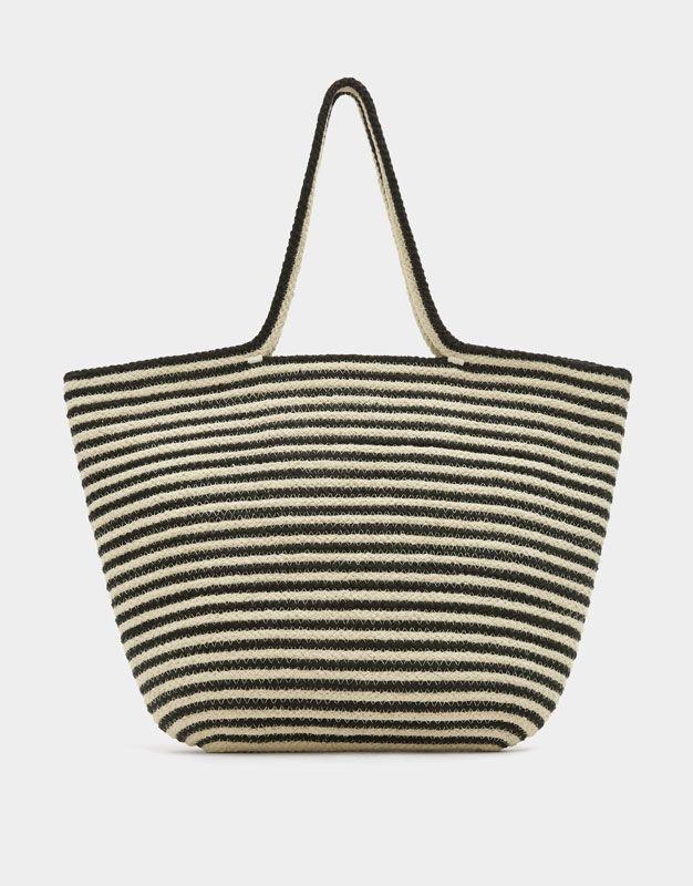 da79b23b9cca Contrasting maxi tote bag - New - Woman - PULL BEAR Indonesia ...