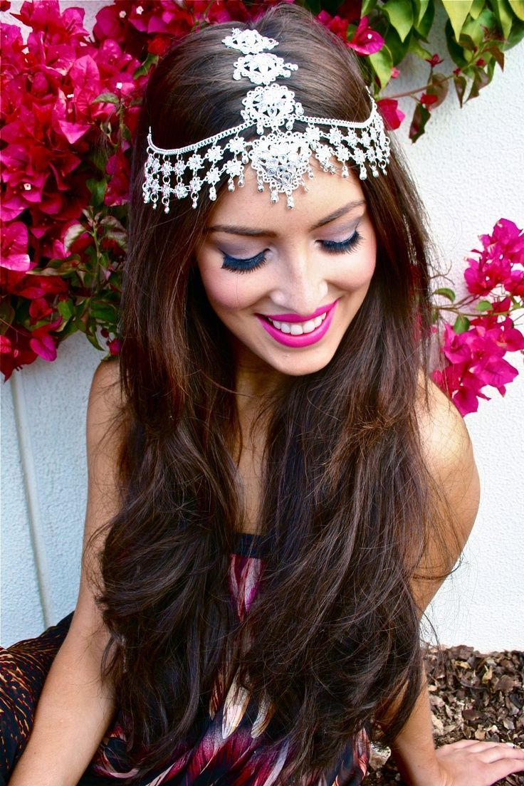 indian wedding hairstyle gallery%0A Indian Wedding Hairstyles With Headpieces
