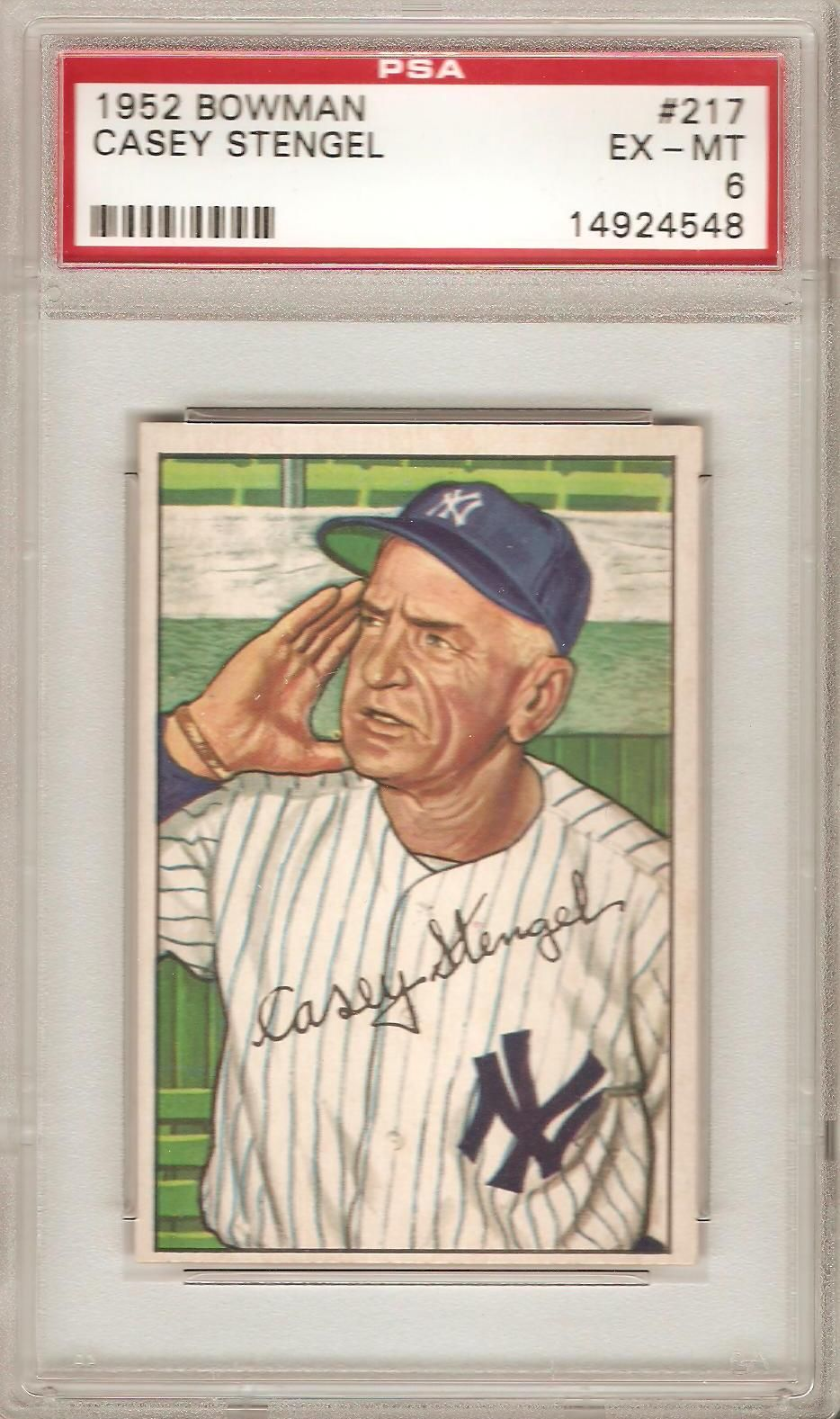 1952 Bowman Casey Stengel Casey stengel, Sports cards