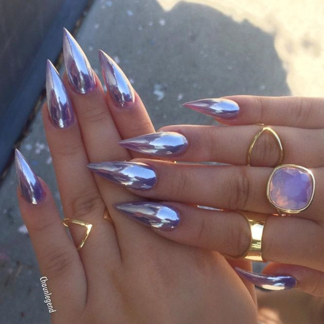 24 Stunning Designs For Stiletto Nails For A Daring New Look