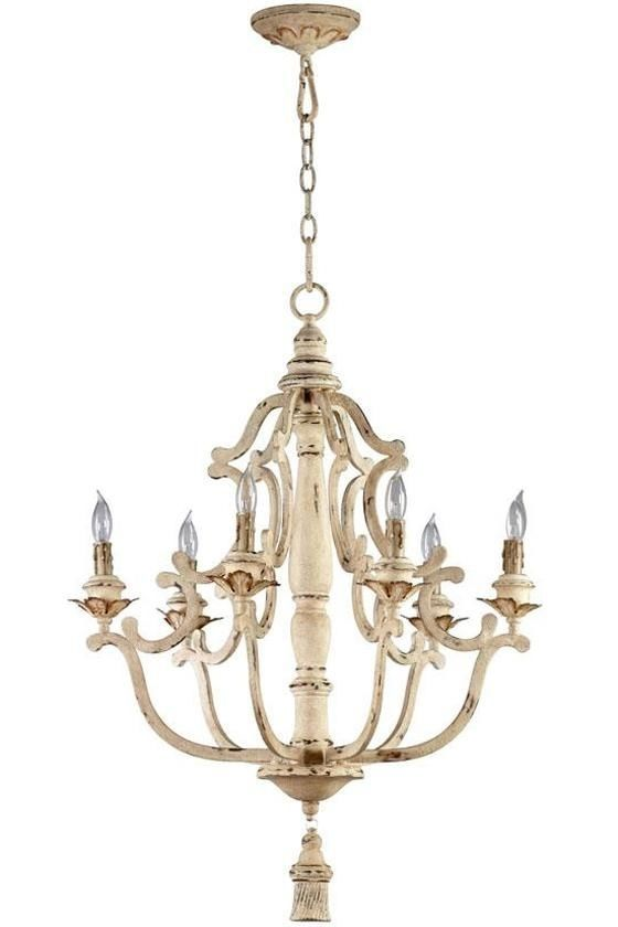Aidan gray look iron antique gold french maison cyan designs chandelier 615