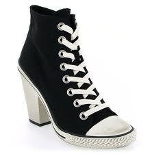 Converse noir à talon | Converse noir, Chaussure et Converse
