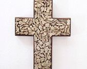 Milagros Mexican Charm Cross - Protection Religious Art Wall Hanging Mexico