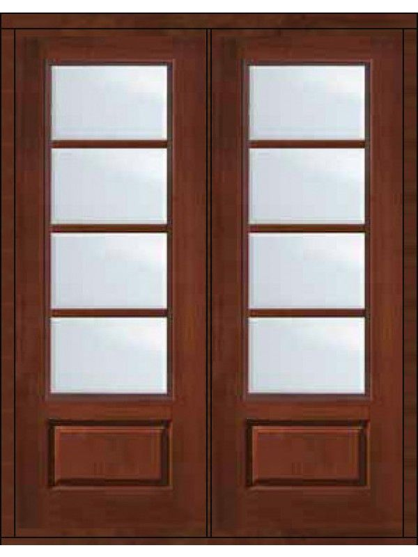 96 Double 4 Lite Sdl 34 Lite Cherry Walnut Door Doors Walnut