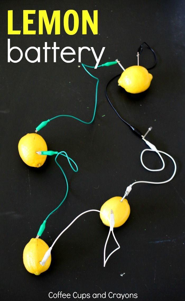 Lemon Battery STEM Project | Stem projects, Lemon and Activities