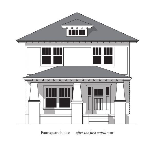 Foursquare Jpg 600 600 Pixels House Exterior Facade House Craftsman House