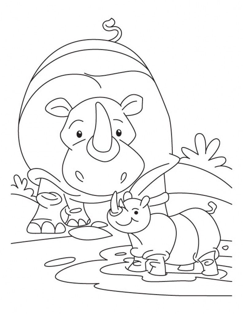 baby rhinoceros coloring pages healthy marriage pinterest