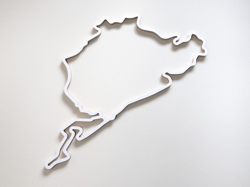 Nurburgring Favourites Wooden Wall Art Wall Sculpture