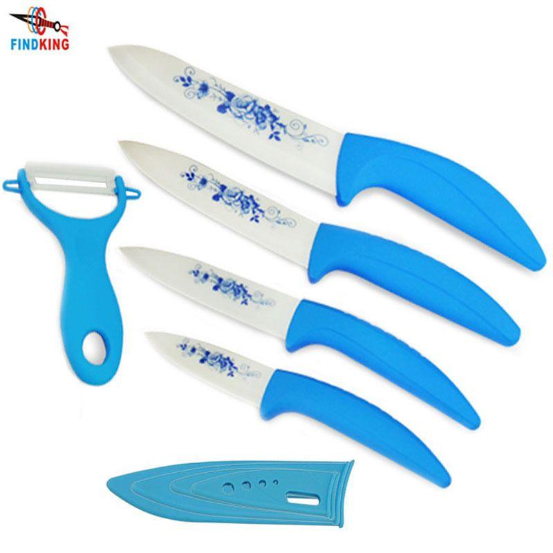Zirconia Kitchen Ceramic Knife Fruit Knife Set Kit 3 4 5 6 Inch Peeler Covers Findking