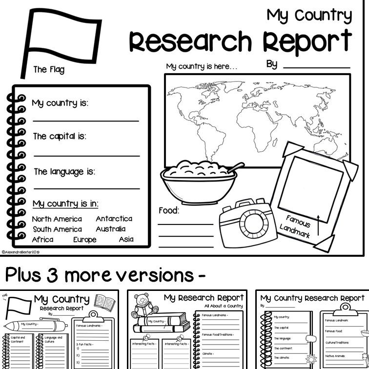 Country Research Report Worksheets And Graphic Organizers In 2021 Geography For Kids Social Studies Worksheets Teaching Geography