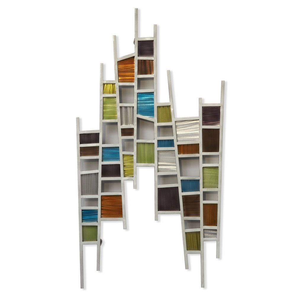 This attractive and unique wall hanging will definitely brighten any room with its modern elegance. Featuring a striking series of colors, this piece is perfect for blending with several color schemes.