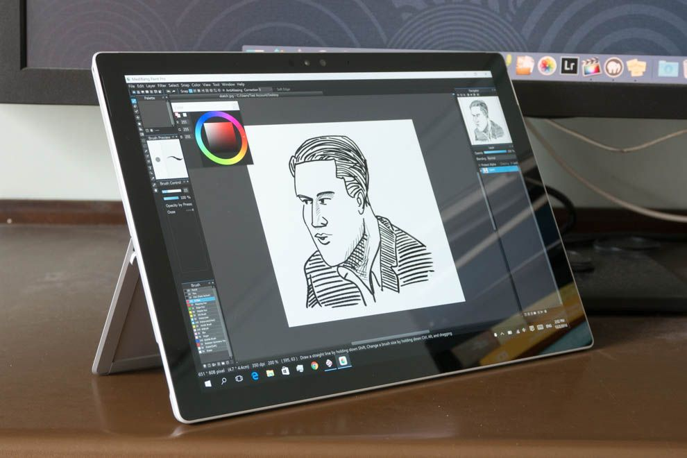 Artist Review Surface Pro 4 as a Drawing Tablet Parka