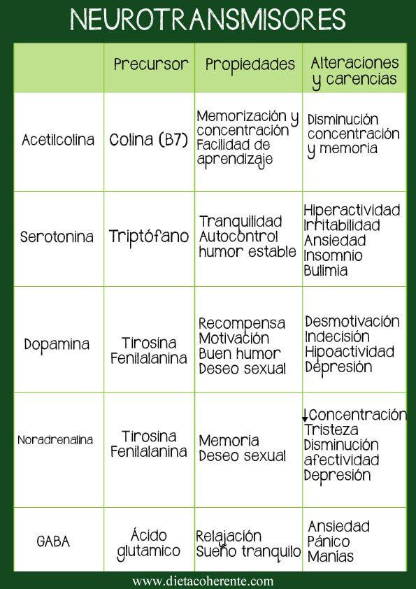 Dieta para combatir la depresión. Equilibrio de Neurotransmisores ...