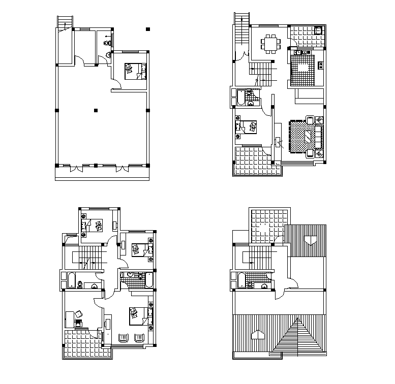 House Plan Layout Free 2d Cad Models Ideas For The