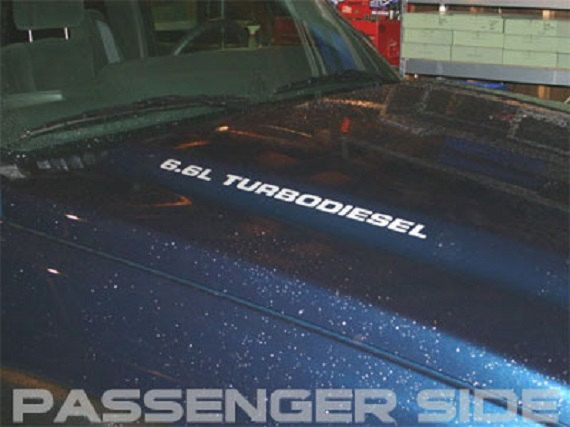 L TURBO DIESEL Hood Decals Your Choice Of Color Fits - Chevy duramax diesel decals