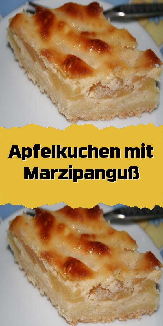 Apfelkuchen mit Marzipanguß