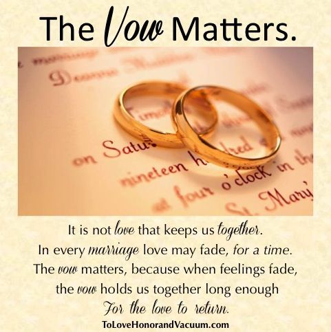 Why We Say Marriage Vows