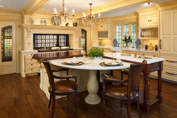 L Shaped Kitchens With Island luxury-kitchen | islands, luxury kitchens and kitchen island table