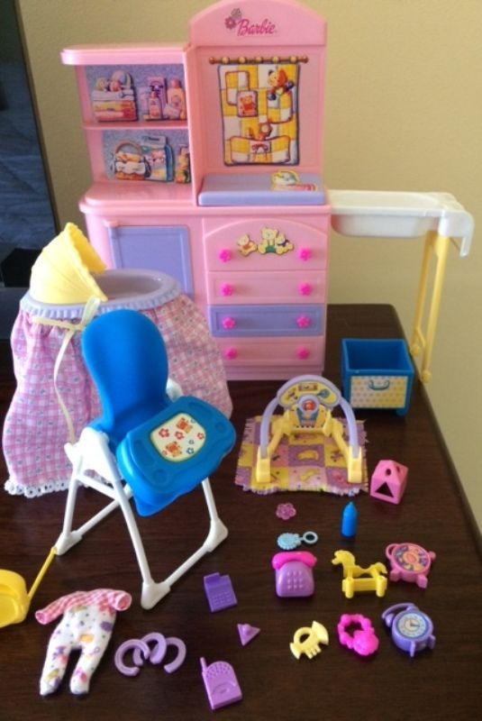 Barbie Happy Family Nursery Playset | eBay #barbiefurniture