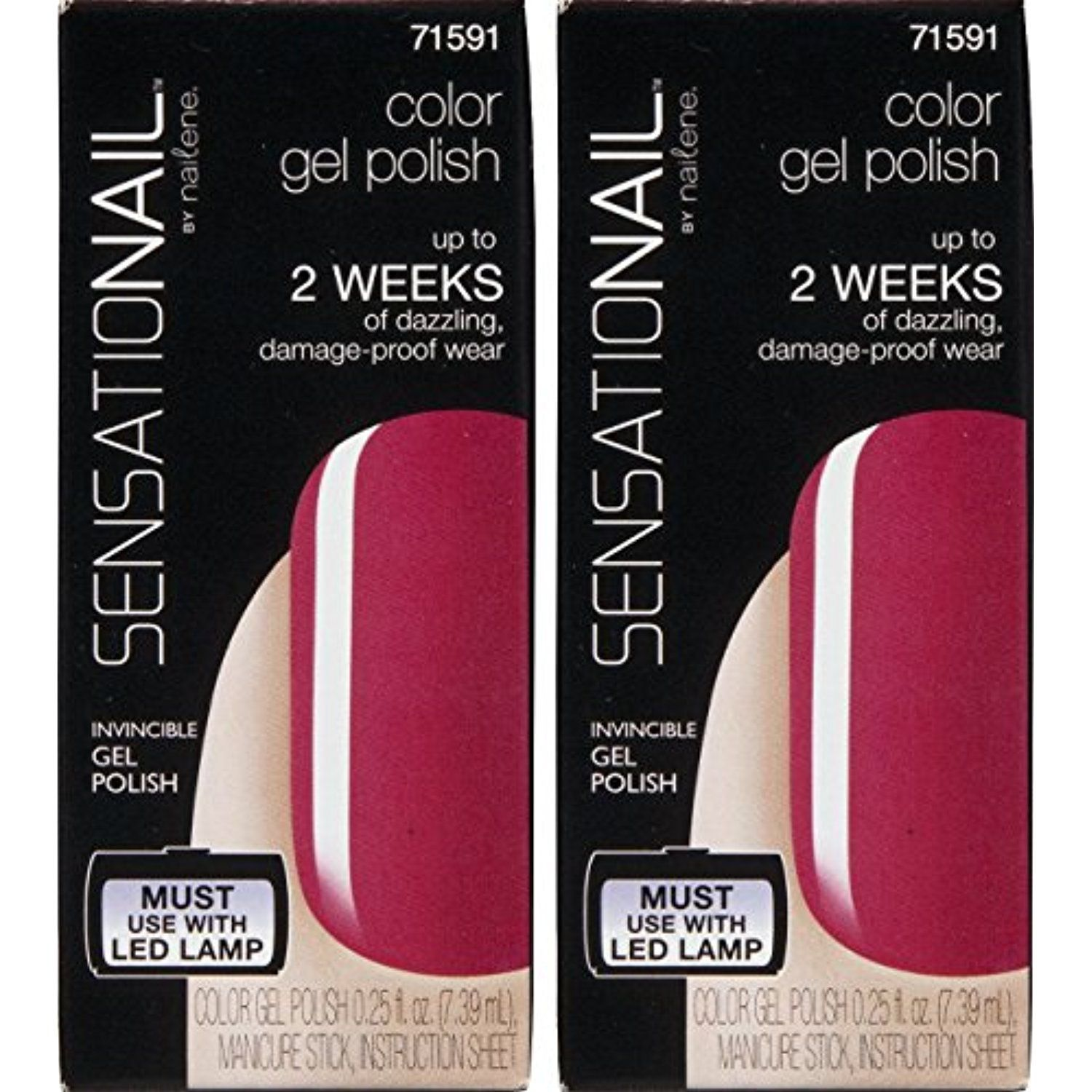 2 Pack Sensationail Invincible Gel Polish 71591 Pink Daisy *** Check ...
