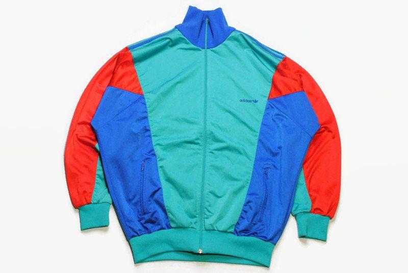 vintage ADIDAS ORIGINALS men's track jacket Size XL