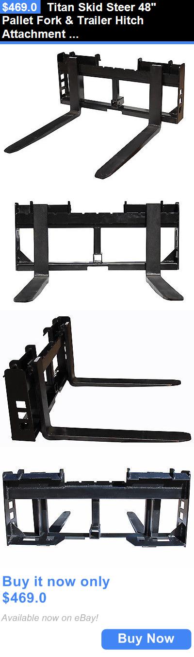 heavy equipment: Titan Skid Steer 48 Pallet Fork And Trailer