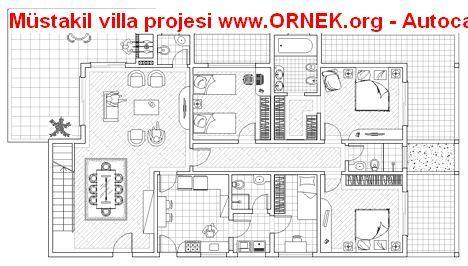Müstakil villa projesi | suburgatory | Pinterest | AutoCAD, Villas ...