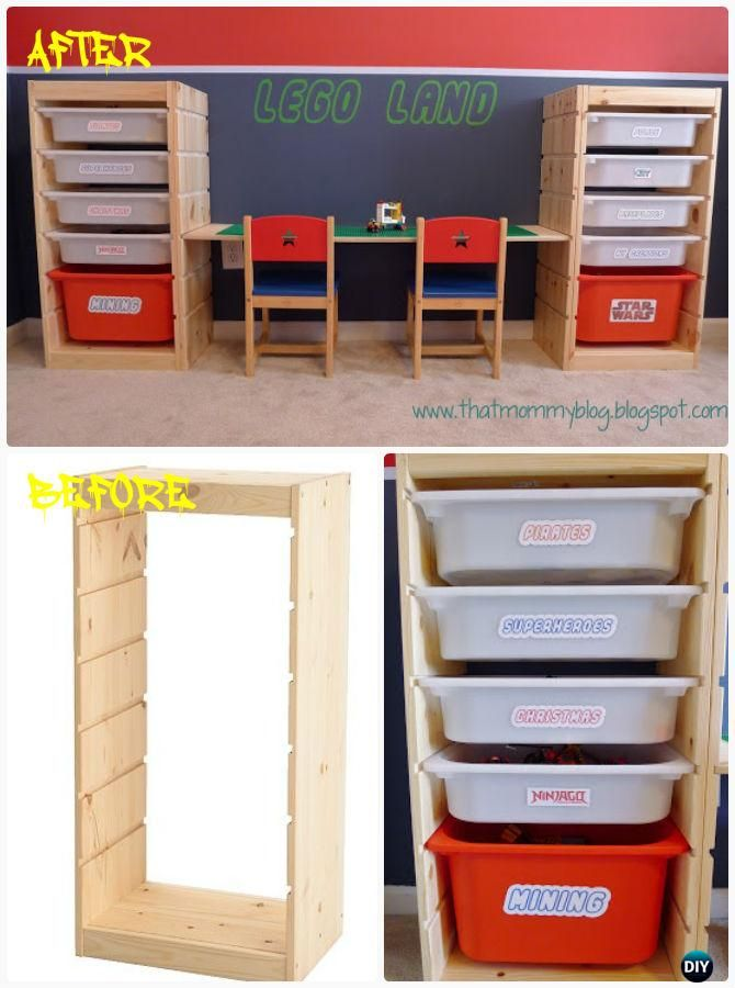 DIY Easy Adjustable Lego Play Table with Storage Instruction-DIY ...